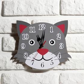 Часы настенные, серия: Детские, 'Кот', 24 см Ош
