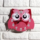 """Часы настенные, серия: Детские, """"Розовая сова"""", 24 см"""