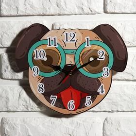 Часы настенные детские 'Собачка', 24 см  микс Ош