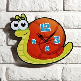 Часы настенные, серия: Детские, 'Улитка', 24 см Ош