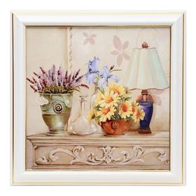 Картина 'Цветы у лампы' 20х20 см Ош