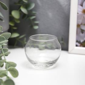 Подсвечник стекло 1 свеча 'Прозрачный шар' 5х6,5х6,5 см Ош