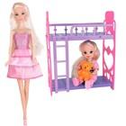 Игровой набор кукла Ася «Спокойной ночи, малышка» с мини-куклой