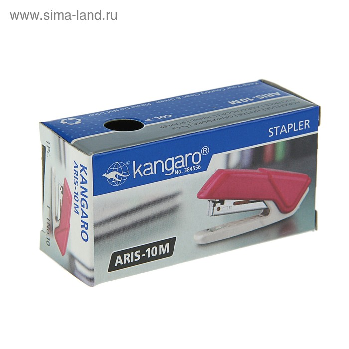 Степлер №10, до 10 листов Kangaro Aris-10М, микс