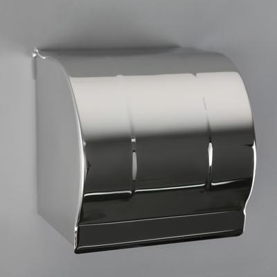 Держатель для туалетной бумаги, без втулки 12×12,5×12 см, цвет хром зеркальный - Фото 1
