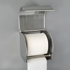Держатель для туалетной бумаги, без втулки 12×12,5×12 см, цвет хром зеркальный - Фото 2