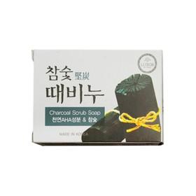Отшелушивающее мыло DongBang, с экстрактами древесного угля, 100 г