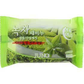 Мыло Juno с отшелушивающим эффектом для рук и тела с экстрактом зеленого чая, 150 г