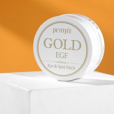 Патчи для глаз Gold & EGF Eye & Spot Petitfee, с золотыми частицами и фактором роста EGF, 60 шт.
