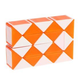 Головоломка «Змейка», цвет оранжевый