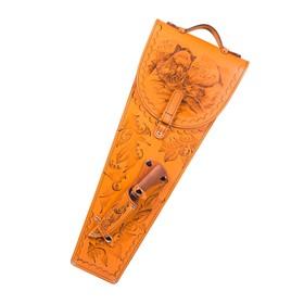 Шампуры 6 шт. в колчане из натуральной кожи Ош