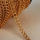 Цепочка для сумки, 5,2 × 7,3 мм, 25 ± 0,5 м, цвет золотой