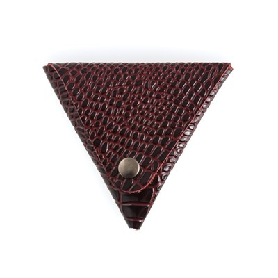 Футляр для монет, н/к, цвет бордо крокодил - Фото 1