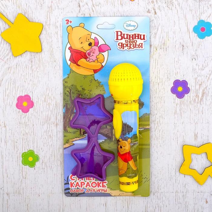 """Набор для игры """"Караоке, Медвежонок Винни и его друзья"""": микрофон, очки , световые и звуковые эффекты"""