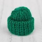 Шапка для игрушек вязаная, цвет зелёный