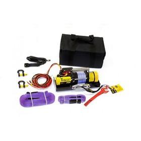 Лебедка переносная электрическая T-Max ATW PRO 2500 с синтетическим тросом Ош