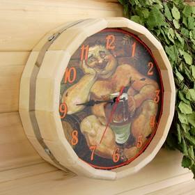 Часы банные бочонок 'В баньке хорошо' Ош