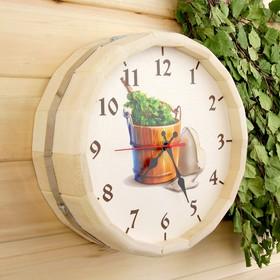 Часы банные бочонок 'Добропаровъ. Банные штучки' Ош