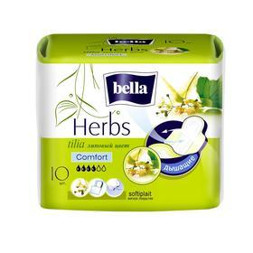 Гигиенические прокладки Bella Herbs komfort с экстрактом липы, 10 шт