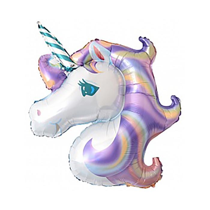 Шар фольгированный 16 Единорог, цвет фиолетовый