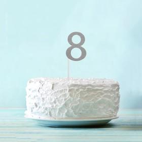 Топпер «8», набор 6 шт., цвет серебряный