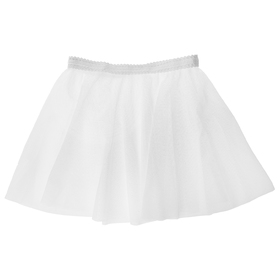 Юбочка гимнастическая, сетка, размер 24-26 (XXS), цвет белый Ош