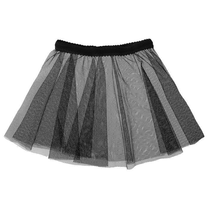 Юбочка гимнастическая, сетка, размер 24-26 (XXS), цвет чёрный