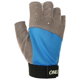 Перчатки спортивные, размер S, цвет синий Ош