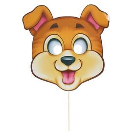 Фотобутафория «Собака», маска на палочке Ош