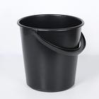 Ведро хозяйственное, 10 л, цвет чёрный