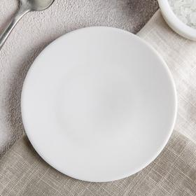 Блюдце Добрушский фарфоровый завод «Бельё», d=10 см, цвет белый