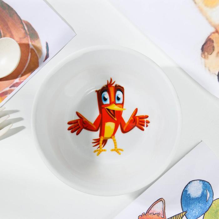 Салатник Радужные птички, 200 мл, d11 см, рисунок МИКС