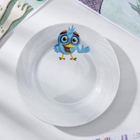 Тарелка мелкая «Радужные птички», d=17,5 см