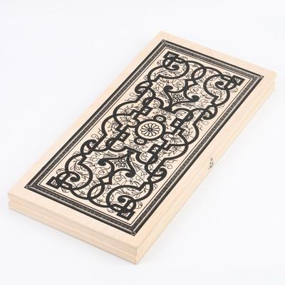 "Нарды ""Восток"", деревянная доска 50х50 см,  микс"
