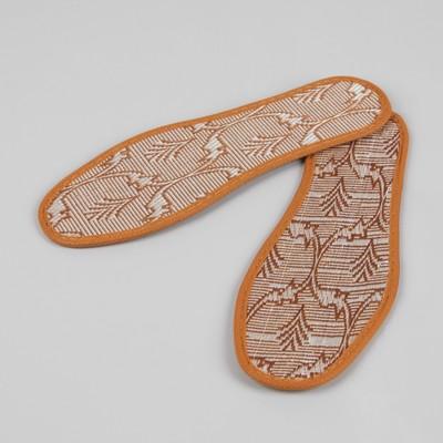 Стельки для обуви «Узор», окантовка, 35 р-р, пара, цвет коричневый