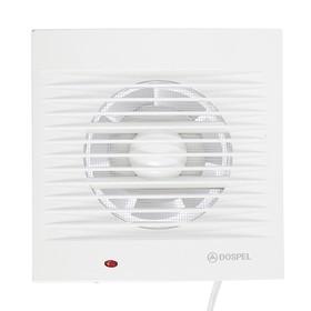 Вентилятор осевой, москитная сетка, провод, d=100 мм, 220 В, 15 Вт, белый Ош