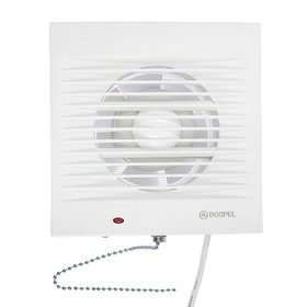 Вентилятор осевой, москитная сетка, с выключателем, d=100 мм, 220 В, 15 Вт, белый Ош