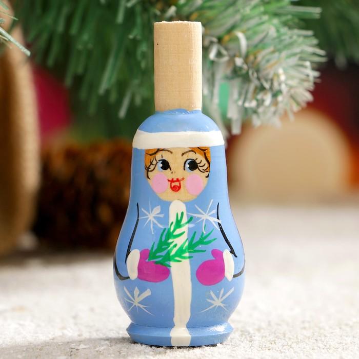 Свистулька Снегурочка, 3х7 см, микс