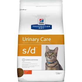 Сухой корм Hill's PD s/d для кошек, растворение струвитов, 1.5 кг