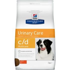 Сухой корм Hill's PD c/d multicare Urinary Care для собак, профилактика МКБ, 2 кг