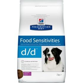 Сухой корм Hill's PD d/d для собак, при аллергии и заболеваниях кожи, утка/рис, 2 кг