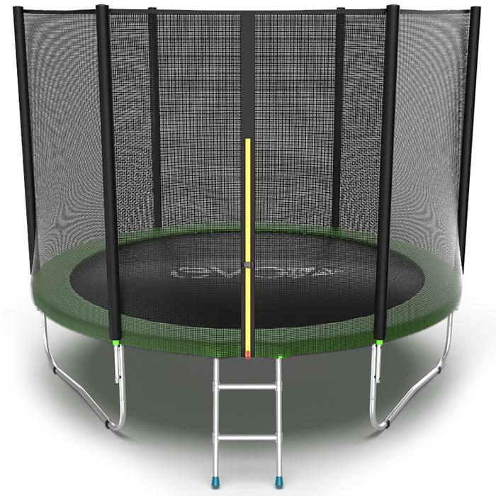 Батут EVO JUMP External, d=305 см, с внешней сеткой и лестницей, зелёный