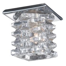 Встраиваемый светильник Novotech, 20 Вт, G4, 12 В, 45x45 мм, d=45 мм, цвет хром
