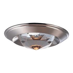 Встраиваемый светильник Novotech, 50 Вт, GX5,3, 12 В, 65x65 мм, d=65 мм, цвет серебро