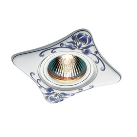 Встраиваемый светильник Novotech, 50 Вт, GX5,3, 12 В, 65x65 мм, d=65 мм, белый