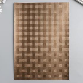 Бумага для творчества фактурная 'Переплёт шоколад' формат А4 Ош