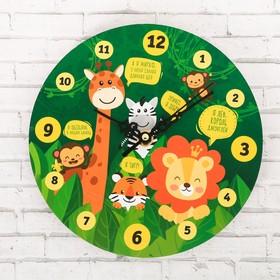 Часы настенные обучающие 'Джунгли', 20 см Ош