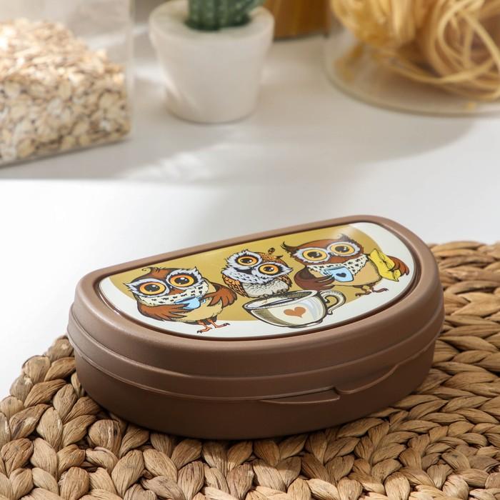 Бутербродница «Совы», цвет коричневый