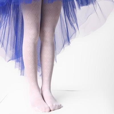 Колготки детские ажурные ЭРА Ромбы цвет белый, рост 128-134 (6-8 лет) - Фото 1