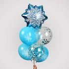 """Фонтан из шаров """"Снежинка"""", с конфетти, латекс, фольга, 10 шт."""